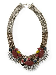 Sabine Multi Faceted Tribal Necklace | Piperlime