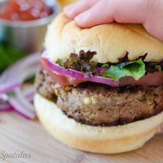 Feta Basil Turkey Burgers