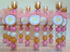 Princess Ball, Princess Crown, Gumball Tube Party Favors, Set of 12, Gold, Shimmer Pink and White with Personalization by EnchantedKidsParties on Etsy https://www.etsy.com/listing/230509106/princess-ball-princess-crown-gumball