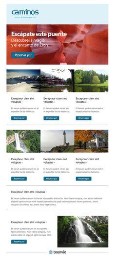 Caminos, plantilla gratis para Newsletter en email marketing