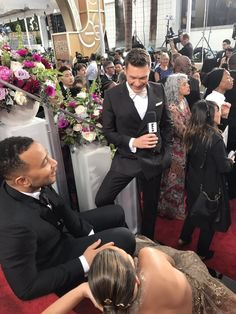 We Are All Chrissy Teigen Sitting Down On The Golden Globes Red Carpet