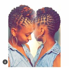 So pretty. Loc updo. She's been loc'd for 2 years.
