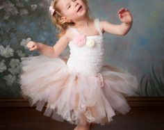 ON SALE Pink / Fuchsia Tutu Dress Tutu Baby Tutu by houseoftutus