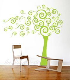 Tree decal, wall decals, nursery wall decal, wall sticker - 11 on Etsy, $69.00