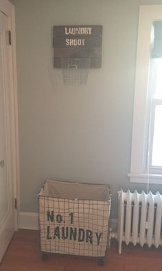 I gave my son and industrial, construction nursery. He's not old enough to take care of his own laundry just yet but you better believe I'm paving the way to…