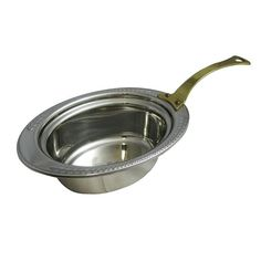 3 qt 24 oz 13 1/8 x 8 7/8 x 4 1/4 inch Stainless Steel Full Oval Pan Laurel Design with Long Handle Tags:  Food Storage Pans; Hot Solutions; Stainless Steel Food Storage Pans;Stainless Steel Silver Food Storage Pans; https://www.ktsupply.com/products/32802339408/3-qt-24-oz-13-18-x-8-78-x-4-14-inch-Stainless-Steel-Full-Oval-Pan-Laurel-Design-with-Long-Handle.html