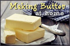 Learning how to make butter is simple, just blend cream with salt. With this tutorial you'll be making your own butter in no time!