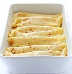 Baked Pancakes (Crepes) With Cottage Cheese (Ricotta)