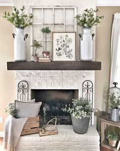 I love spring decor so much I finally changed out my tobacco basket above my fireplace for a chippy window and some new vases from kirklands that I love so much I seriously cant wait for it to officially be spring tomorrow I have some exciting things planned for this spring and a fun announcement that I cant wait to share with you Happy Monday liketkit liketoknowit httpliketkitv