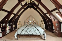 Sleeping quarters: A staircase leads to three bedrooms, two of which area en-suite - both ...