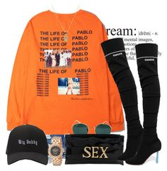 """The Life Of Pablo"" by urban-stylefashion ❤ liked on Polyvore featuring Ray-Ban, Vivienne Westwood, Vetements, Sydney Evan and Versace"
