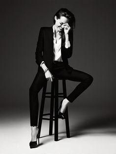 Angelina Jolie by Hedi Slimane for Elle Magazine June 2014