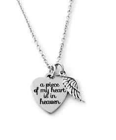 Another great find on #zulily! Stainless Steel 'A Piece of My Heart Is in Heaven' Necklace #zulilyfinds
