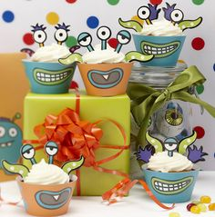 monster kids birthday party cupcake kit by ginger ray | notonthehighstreet.com