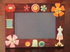 SEW PRETTY picture frame - pinned by pin4etsy.com