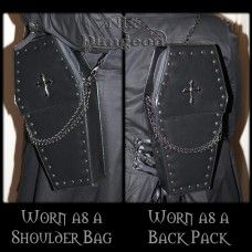 Gothic Punk Coffin Bag. www.nixdungeon.co.nz Coffin, Gothic, Punk, Backpacks, Shoulder Bag, Handbags, Wallet, Accessories, Dime Bags
