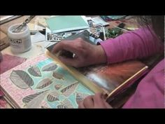 How relaxing is this...just gluing everything randomly...I love it. Gotta get me some of those sticky sheets she uses for printing out quotes.    Art Journal Blitz