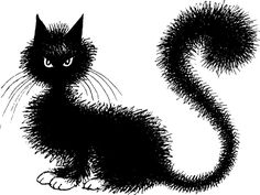 Albert Dubout a satirist and cartoonist, like Steinberg, was a cat lover and aptly captured his feline companions in typical cat behaviors. I Love Cats, Crazy Cats, Cool Cats, Pretty Cats, Beautiful Cats, Albert Dubout, Black Cat Art, Black Kitty, Black Cats
