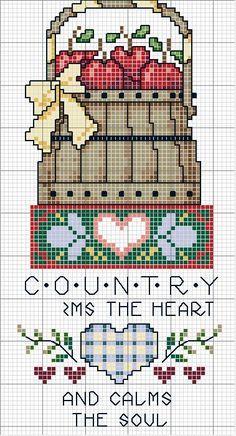 Schema punto croce Quadro Country 10