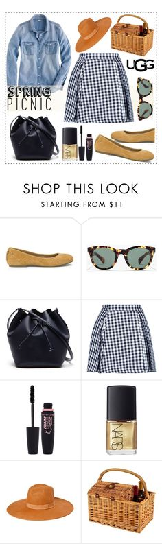 """""""Play With Prints In UGG: Contest Entry"""" by alaria ❤ liked on Polyvore featuring UGG Australia, J.Crew, Lacoste, MSGM, Maybelline, NARS Cosmetics, Picnic at Ascot and thisisugg"""