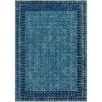 Tessera Blue 5 ft. 3 in. x 7 ft. 3 in. Indoor Area Rug