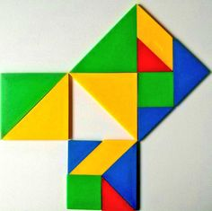 Pythagoras Theorem with Tangram || names after a well known mathematician himself