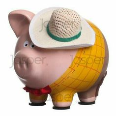 Wooden Piggy Bank, Pottery Place, Pig Bank, Penny Bank, Mini Pigs, Cute Piggies, Toy Story Party, Farm Theme, Dot Painting