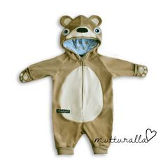 Nallehaalari vauvalle Overall, Beautiful Outfits, Beautiful Clothes, Future Baby, Hoodies, Children, Boys, Babies, Sewing