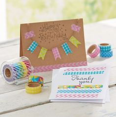 DIY Washi Tape Embellished Card