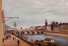 View of the Pont au Change from Quai de Gesvres - Camille Corot