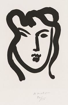 "Henri Matisse's ""Patitcha"" (1947), featured in ""Matisse as Printmaker."""