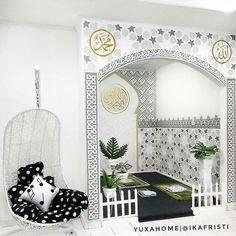 muslim prayer room ideas at home * muslim prayer room ideas at home , home prayer room ideas muslim Islamic Decor, Islamic Wall Art, Home Room Design, Home Interior Design, House Design, Decoraciones Ramadan, Prayer Corner, Ramadan Decorations, Prayer Room