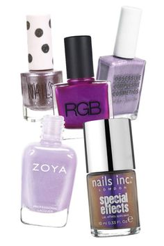 2013 HIGH SHINE: SPRING'S METALLIC NAIL POLISHES: PURPLE RAIN Topshop Nails in Eyes of Steel; RGB Nail Color in Fuchsia; 16; Obsessive Compulsive Cosmetics Nail Lacquer in Electric Sheep; Nails Inc. Special Effects Mirror Metallic Nail Polish in Cheyne Walk; Zoya Nail Polish in Julie