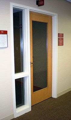 Commercial Wood Door with Glass | Commercial Interiors | Pinterest ...