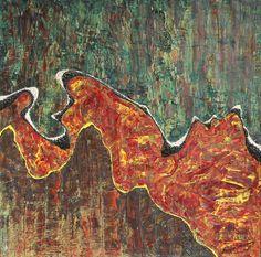 "Marian Lupu LUPINO -Email: mlupubm@yahoo.com -""Through Creast""-oil on canvas 1993-50x50 cm-2600$"