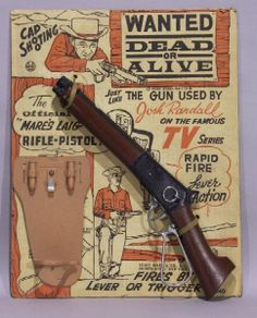 Davy Crockett toy weapons | Marx Wanted Dead / Alive Cowboy Cap Gun sold for $495