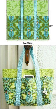 Simple DIY Six Pocket Bag