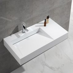 Artificial Stone Bathroom Vanity Hand Wash Basin for Sanitary Ware, Find Details about Bathroom Basin, Hand Wash Basin from Artificial Stone Bathroom Vanity Hand Wash Basin for Sanitary Ware - Kingkonree International China Surface Industrial Co. Modern Sink, Modern Bathroom, Small Bathroom, Stone Bathroom, Bathroom Basin, Washroom, Solid Surface, Lavabo Design, Wall Mounted Basins