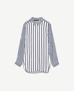 Image 6 of CONTRASTING STRIPE SHIRT from Zara