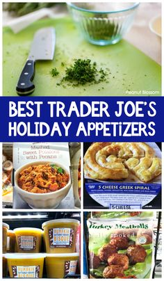 Easy appetizer recipes using grocery store shortcuts. We love these Trader Joe's. Easy appetizer recipes using grocery store shortcuts. We love these Trader Joe's party recipe ide Easy Appetizer Recipes, Healthy Appetizers, Quick Recipes, Simple Appetizers, Appetizer Ideas, Party Recipes, Thanksgiving Appetizers, Christmas Appetizers, Kids Meals