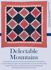 Delectable Mountains Digital Quilt Pattern from ShopFonsandPorter.com