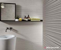 Fantastic large-scale walls, are brought to life by elegant facets and design textures. Dramatic details which become the dominant feature of commercial and residential spaces with a contemporary feel. #atlasconcorde atlasconcorde.com