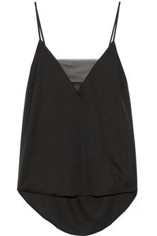 By Malene Birger Niharika stretch-silk and georgette camisole | NET-A-PORTER