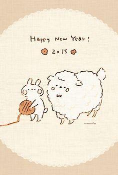 Momochy, New Year's card design