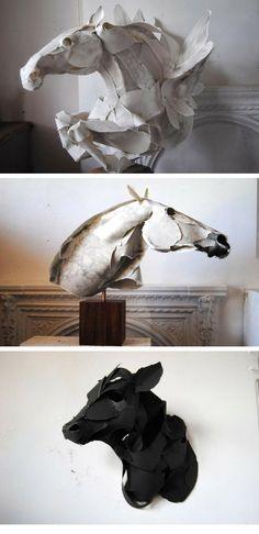 Paper sculptures by Anna Wili Highfield