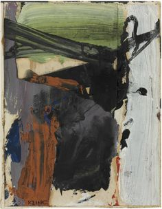 Franz Kline: Lavender Rust, 1957. Oil and paper collage on paper. Sold at auction in 2013 by @christiesinc