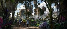 Artist Rendering of AVATAR-Themed Land During the Day, Coming to Disney's Animal Kingdom at Walt Disney World Resort AvatarLand is a touchy subject with alot of super Disney fans......but Im soooooo beyond excited for this expansion.
