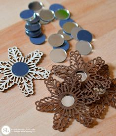 Stained Wood Filigree Ornaments #michaelsmakers