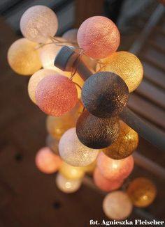 Cotton Ball Lights by pretty pleasure. Xmas Lights, Fairy Lights, String Lights, Pretty Lights, Beautiful Lights, Candle Lanterns, Candles, Cotton Ball Lights, Kulfi