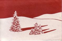 linoblock printed christmas card ca. Vintage Christmas Cards, Vintage Holiday, Xmas Cards, Christmas Art, Retro Christmas, Linocut Prints, Art Prints, Block Prints, Linoprint